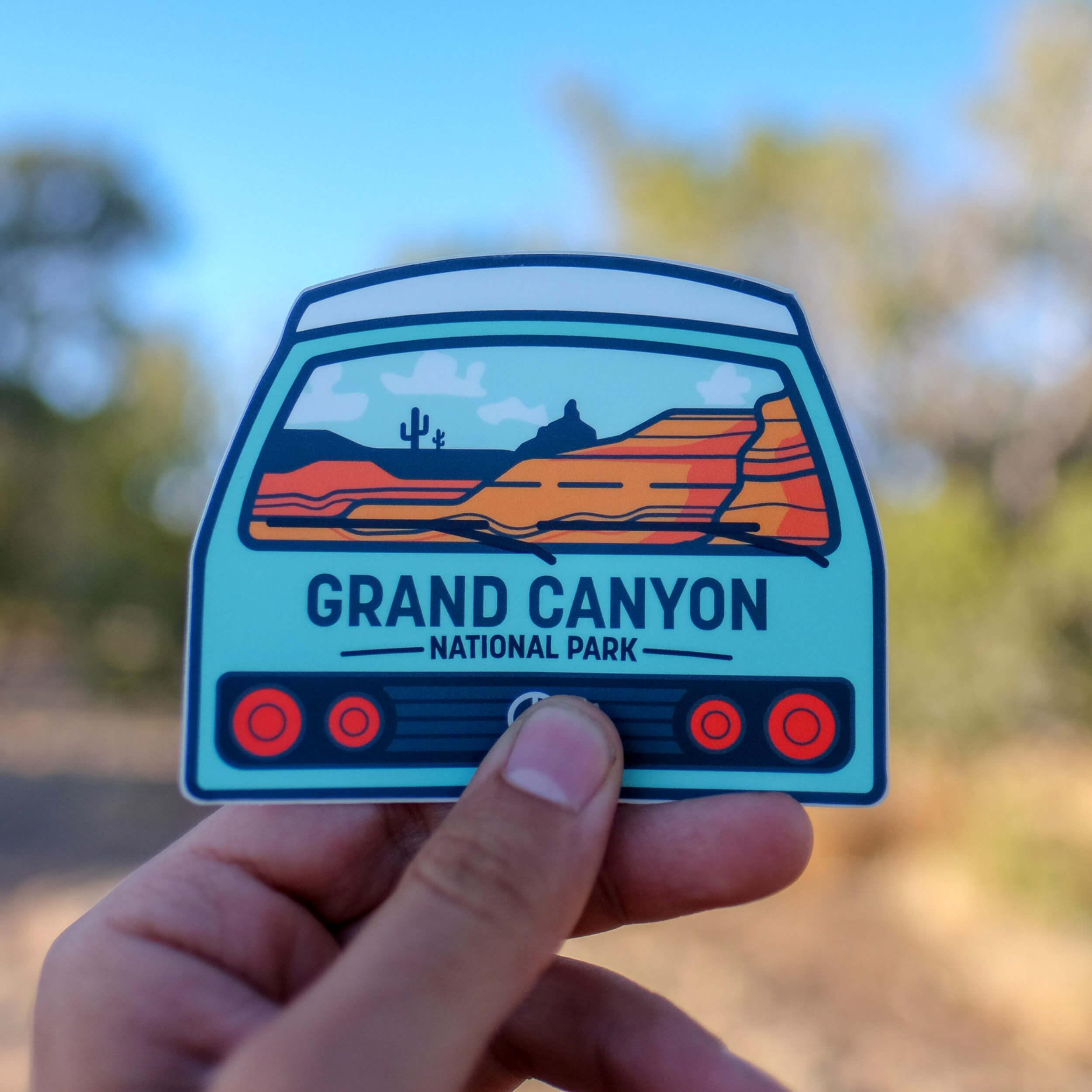 Van Life National Park Stickers 5 Pack