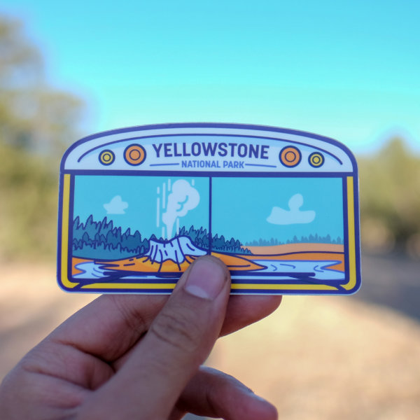 Yellowstone Bus Life Sticker from Adventure or Bust